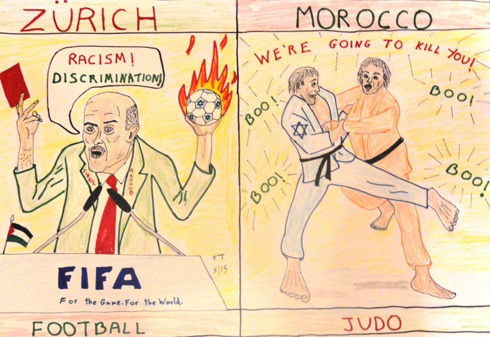 """International Blood (Libel) Sport: A Metaphor for Life."" Credit: FeinTooner."