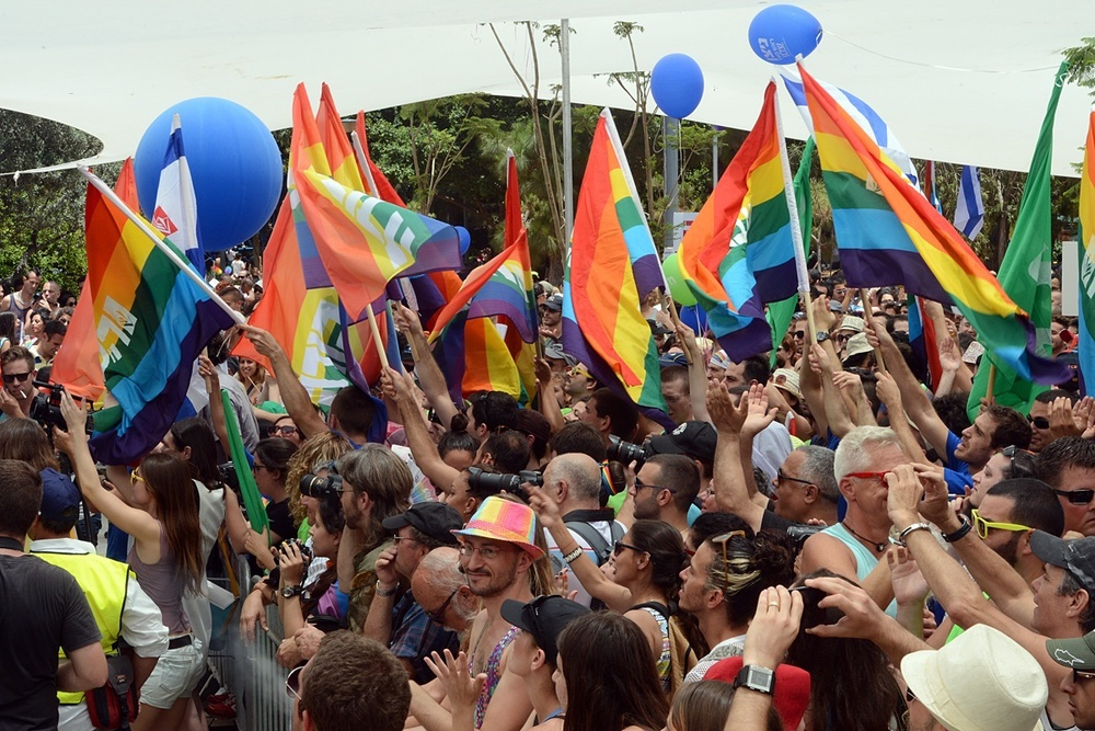 Click photo to download. Caption: Tel Aviv's gay pride parade on June 7, 2013. Credit: U.S. Embassy Tel Aviv.