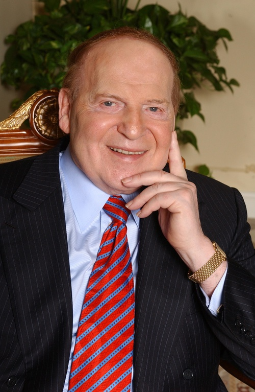J Street U slammed the anti-BDS summit that was co-hosted by Sheldon Adelson (pictured). Credit: Courtesy Sheldon Adelson.
