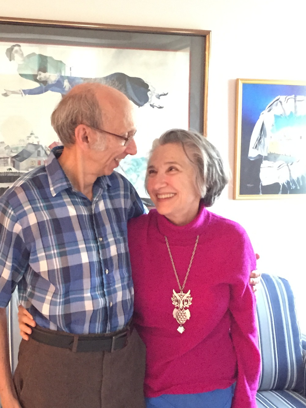 Click photo to download. Caption: Alan Poisner, 80, and Sharon Poisner, a few years his junior, were married last October. They met at the Village Shalom retirement community in Overland Park, Kansas. Credit: Maayan Jaffe.