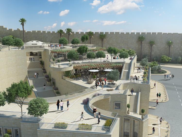 The design oftheforthcoming Kedem Center, a visitor's center for Jerusalem's City of David. Credit: City of David.