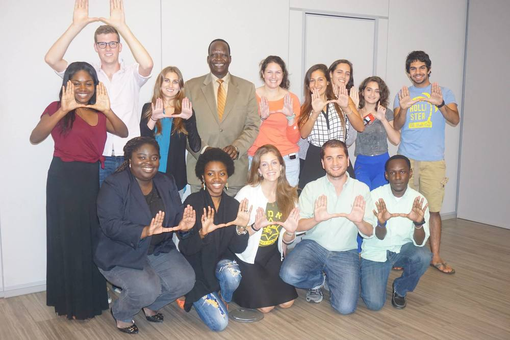 A recent EMET Israel event with Simon Deng. Credit: CAMERA.