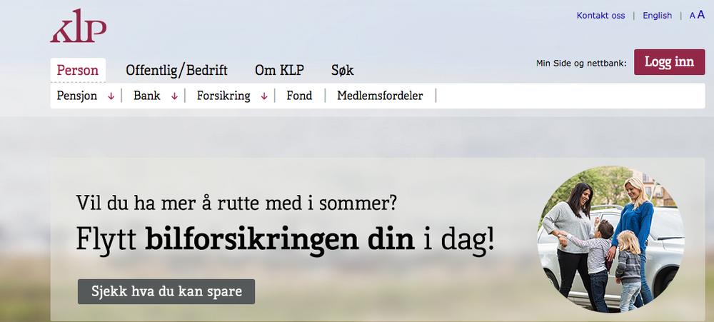 The KLP website. Credit: Screenshot.