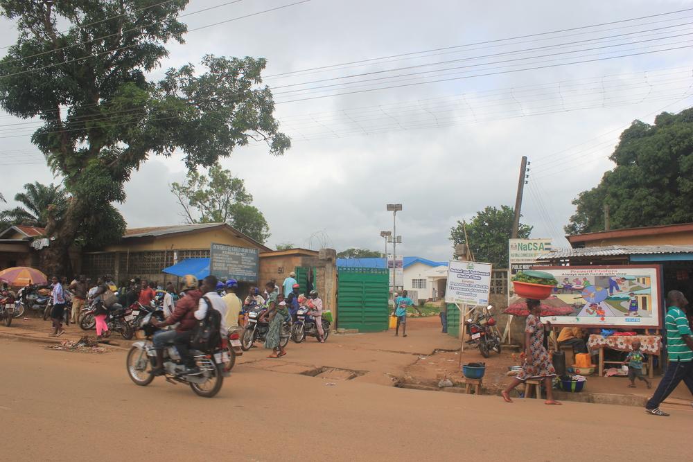 A hospital in Kenema,Sierra Leone, where Ebola virus samples are tested. Credit: Wikimedia Commons.