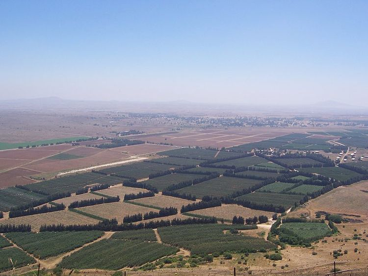Syrian territory near the border with Israel in the Golan Heights. Credit: Wikimedia Commons.