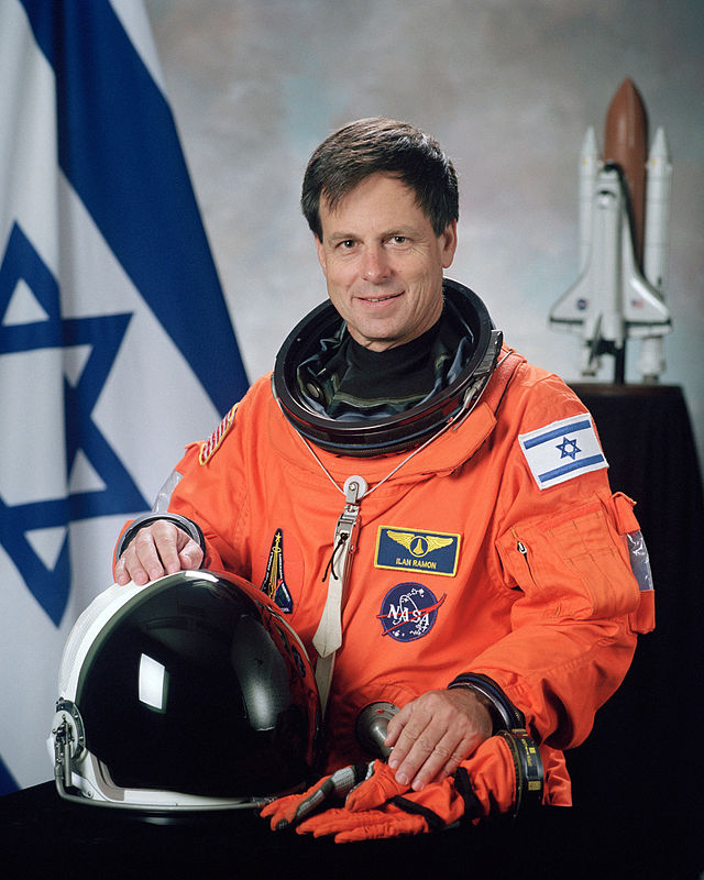 Ilan Ramon (pictured), Israel's first astronaut in space, died in the Space Shuttle Columbia crash. Credit: NASA.