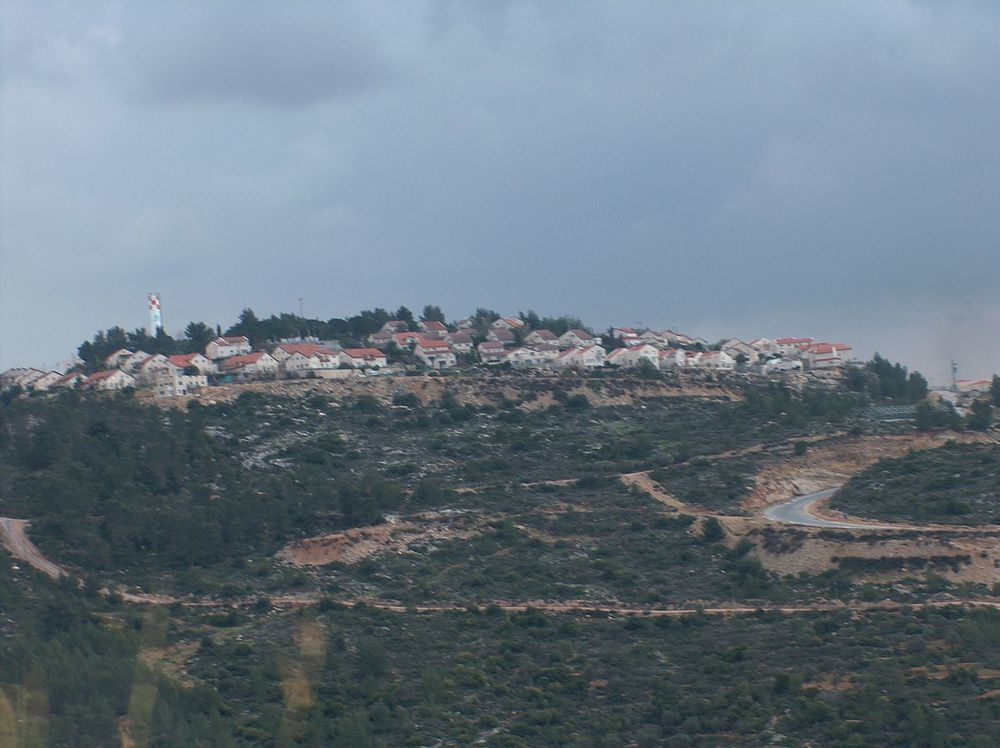 The Jewish community of Dolev in Judea and Samaria, where nearby, two men were shot in a apparent Palestinian terror attack. Credit: Wikimedia Commons.