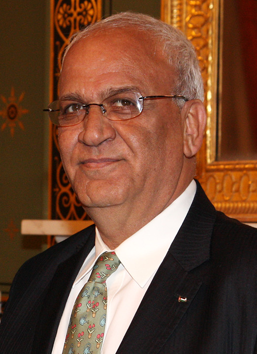Saeb Erekat. Credit: Foreign and Commonwealth Office via Wikimedia Commons.