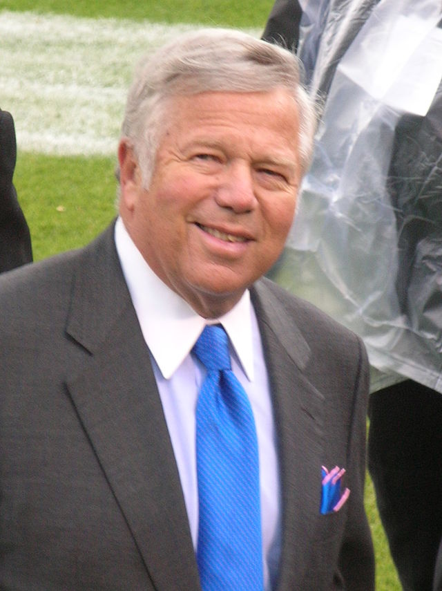 Jewish billionaire Robert Kraft, owner of the New England Patriots. Credit: Wikimedia Commons.