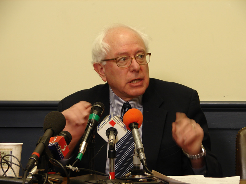 Sen. Bernie Sanders (I-Vt., pictured) is currently the only Jewish candidate officially running for U.S. president in 2016. Credit: Wikimedia Commons.