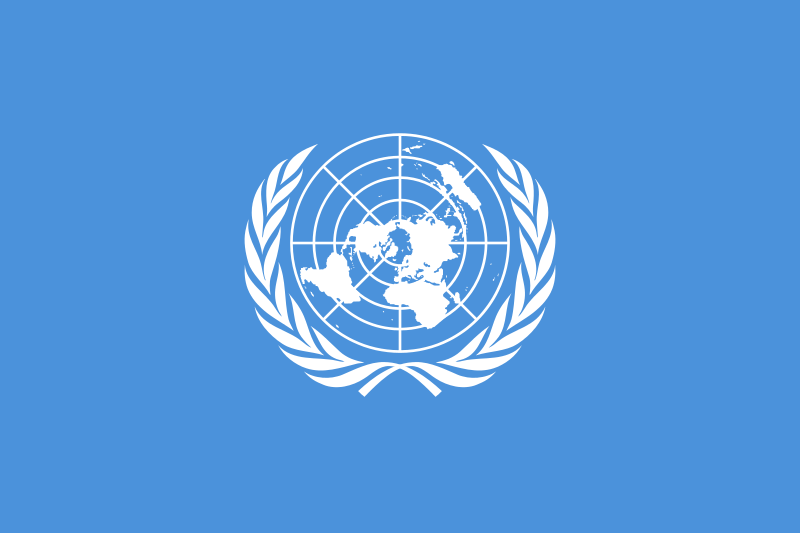 The U.N.flag. Credit: Wikimedia Commons.