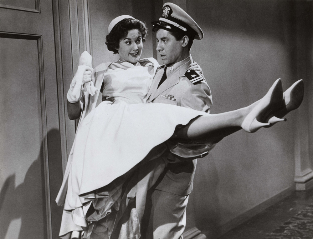 "Click photo to download. Caption: Jerry Lewis (right) with Diana Spencer in ""Don't Give Up the Ship."" Credit: www.doctormacro.com."