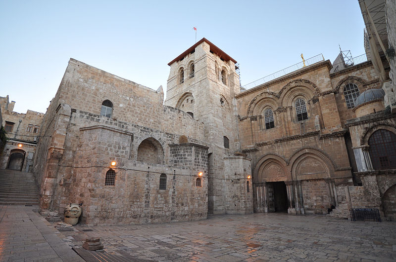 Jerusalem's Church of the Holy Sepulchre (pictured) is part of the itinerary for an ADL-run trip to Israel for Catholic school educators. Credit: Jlascar via Wikimedia Commons.