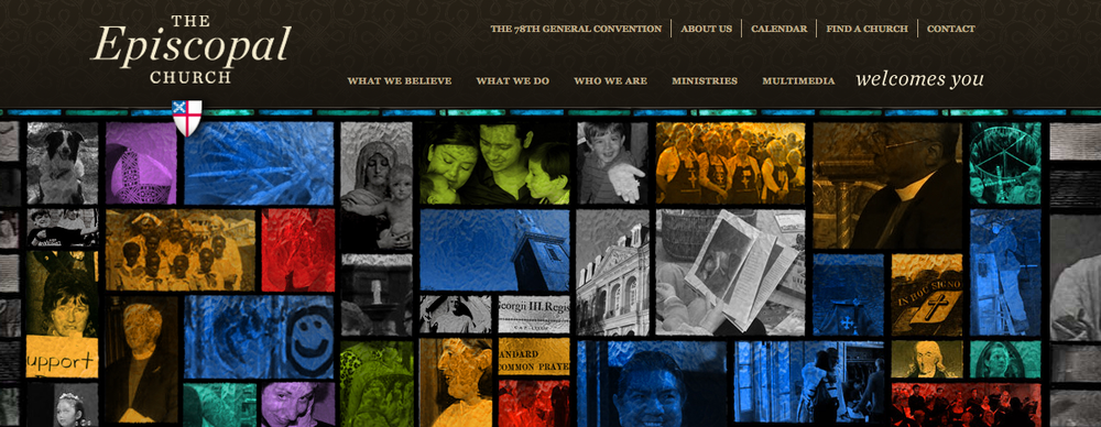 The Episcopal Church website. Credit: Screenshot.