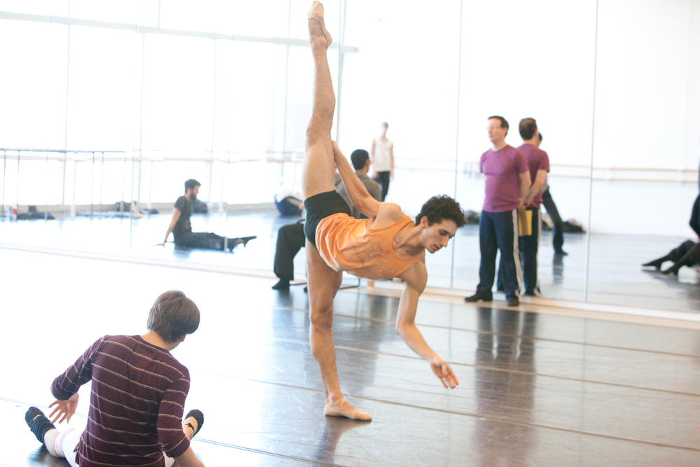 Click photo to download. Caption: Israeli-born Shahar Dori (pictured here in orange shirt), a rising talent in the ballet world. Credit: Amitava Sarkar.