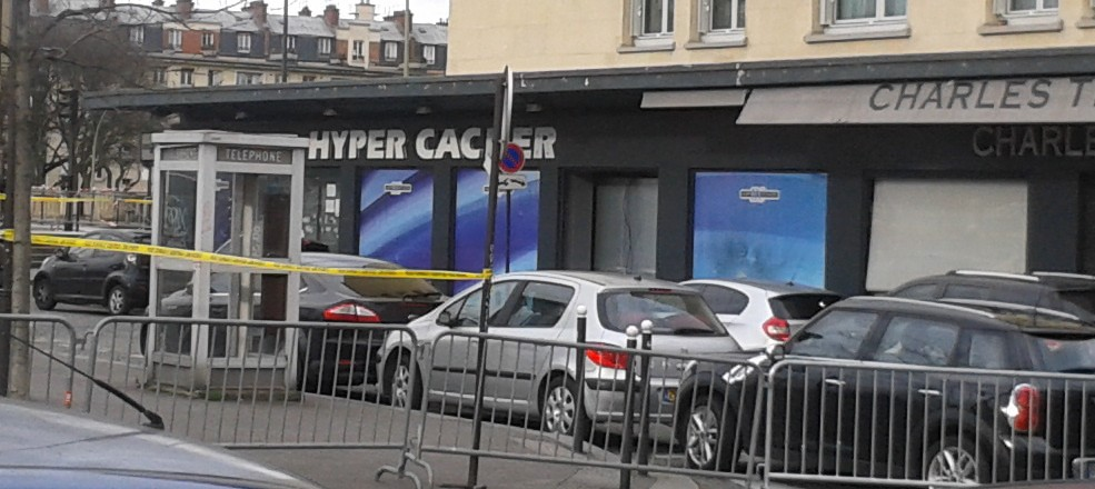 The Hyper Cacher kosher supermarket in Paris following January's Islamist attack there. Credit: JJ Georges via Wikimedia Commons.