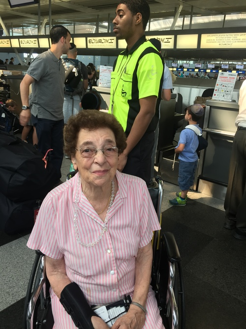 Susan Friedman (pictured), Member of Knesset Rachel Azaria's grandmother, was among the 221 new immigrants to arrive in Israel on Tuesday. Credit: Maayan Jaffe.