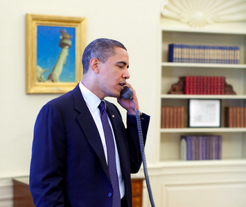 U.S. President Barack Obama (pictured) called Israeli Prime Minister Benjamin Netanyahu on Tuesday to offer more military funding to the Jewish state. Credit: Wikimedia Commons.