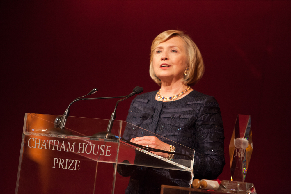 Click photo to download. Caption: Hillary Clinton. Credit: Chatham House via Wikimedia Commons.