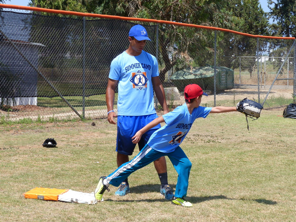 Click photo to download. Caption: The Israel Association of Baseball's (IAB) summer training camp. Credit: Courtesy IAB.