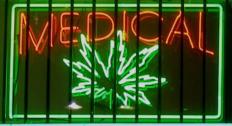 A medical marijuana sign. Credit: Wikimedia Commons.