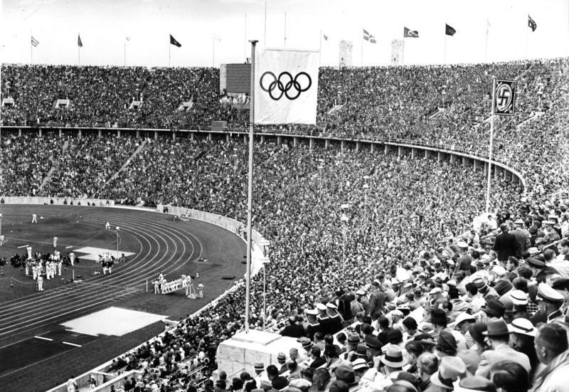 The 14th European Maccabi Games are taking place place in the Olympiastadion (pictured), the same Olympic stadium built and used for the Summer Olympics of 1936 during the Nazi era. Credit: German National Archives via Wikimedia Commons