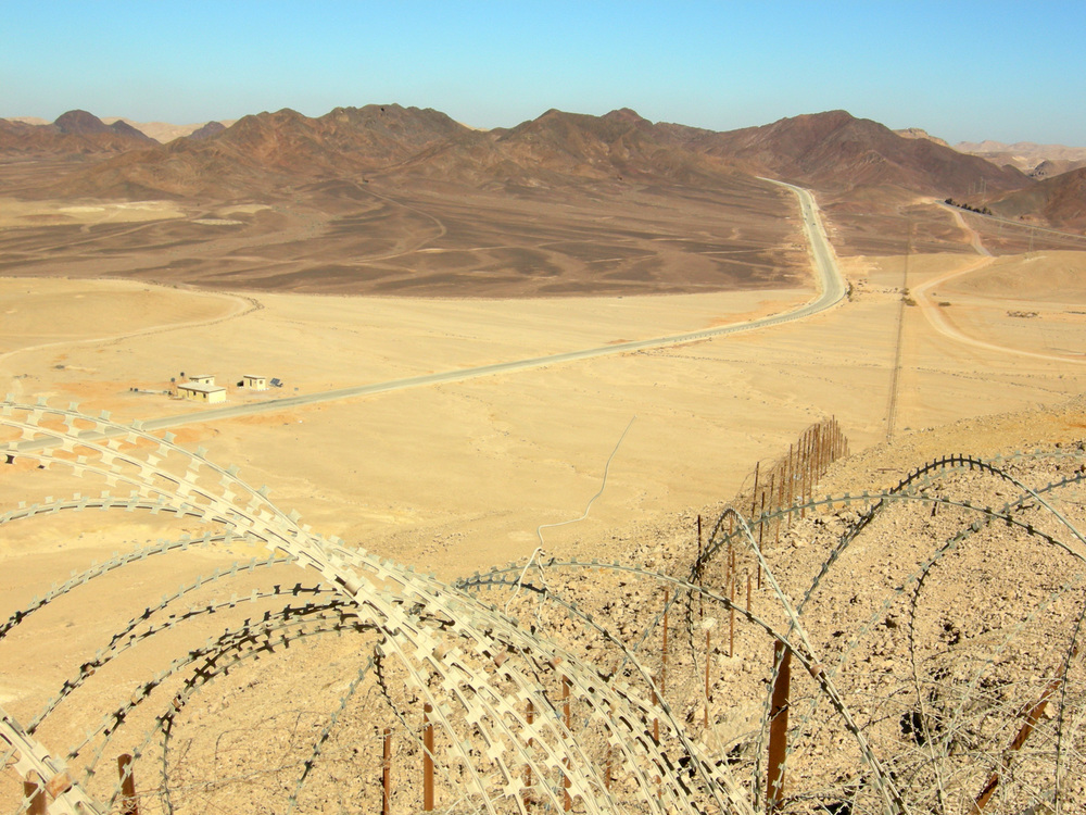 The border between Israel and Egypt in the Sinai Peninsula. Credit: Wikimedia Commons.