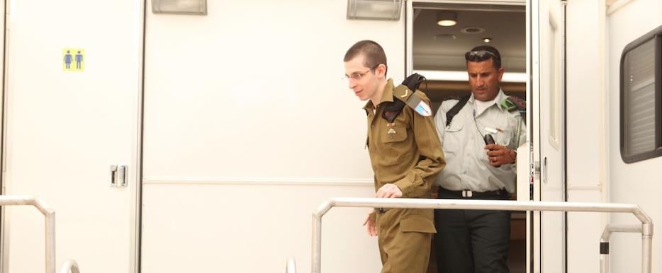 Gilad Shalit upon his return to Israel. Credit: IDF.
