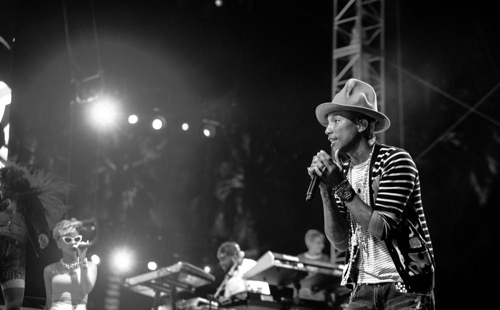 Pharrell Williams. Credit:The Bull Pen via Flickr.com.
