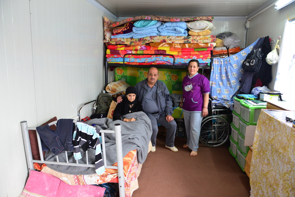 Displaced Christians in cramped living conditions in Erbil, the largest city in Iraqi Kurdistan. Credit:   Aid to the Church in Need (ACN).