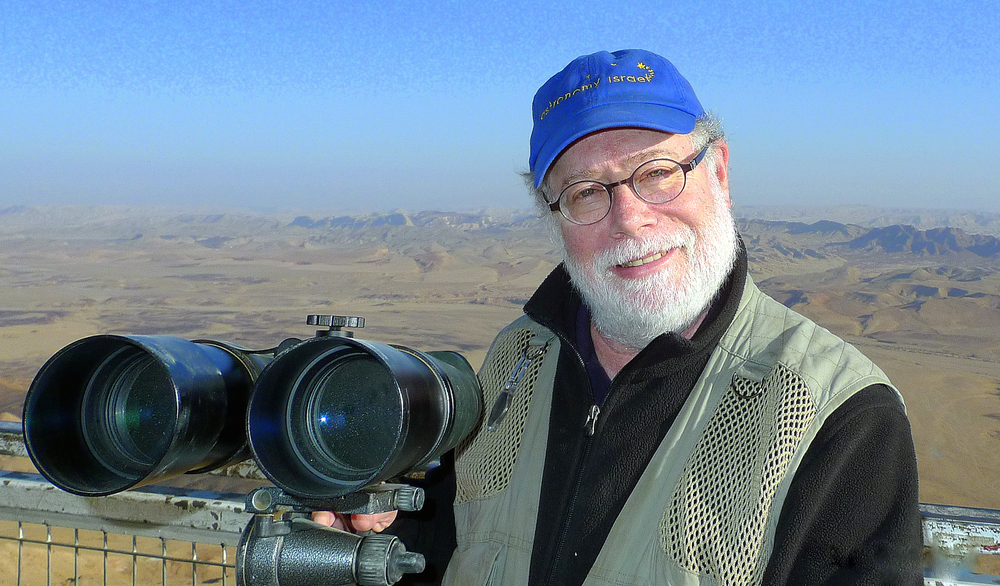 Click photo to download. Caption: Amateur astronomer Ira Machefsky, who made aliyah in 2009. Credit: Courtesy Ira Machefsky.