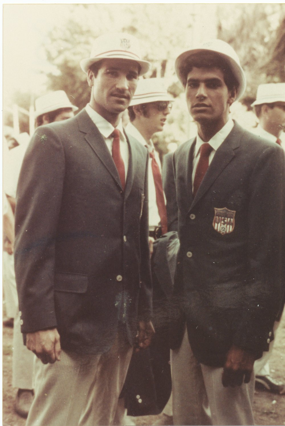 Click photo to download. Caption: Basketball player Tal Brody (left) and swimmer Mark Spitz at the 1965 Maccabiah Games. Credit: Courtesy Joseph Yekutieli Maccabi Archive.