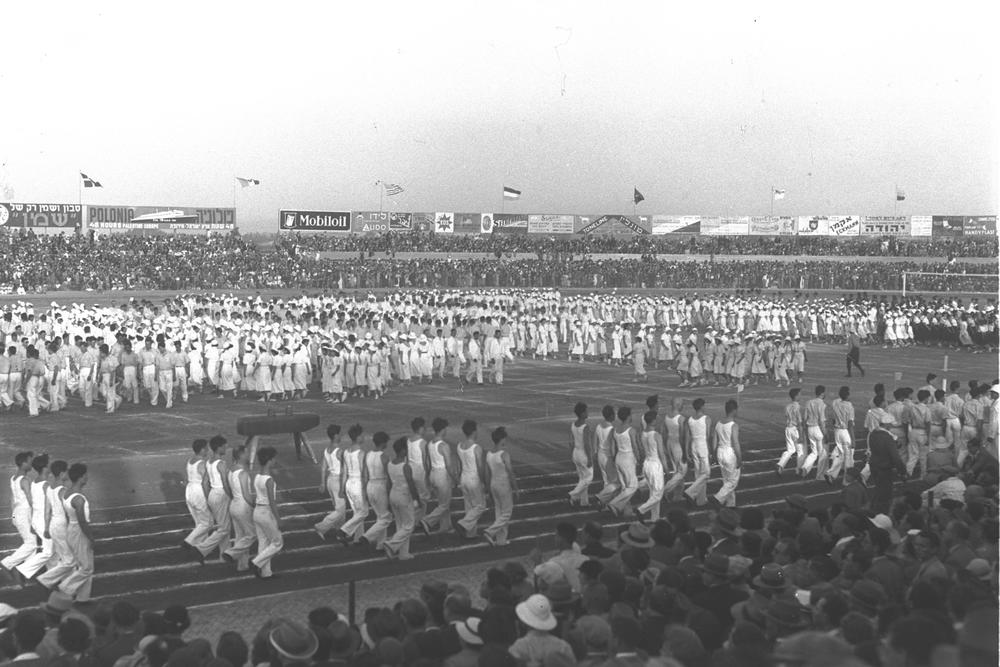 Click photo to download. Caption: The opening ceremonies of the 1935 Maccabiah Games. Credit: Courtesy Joseph Yekutieli Maccabi Archive.