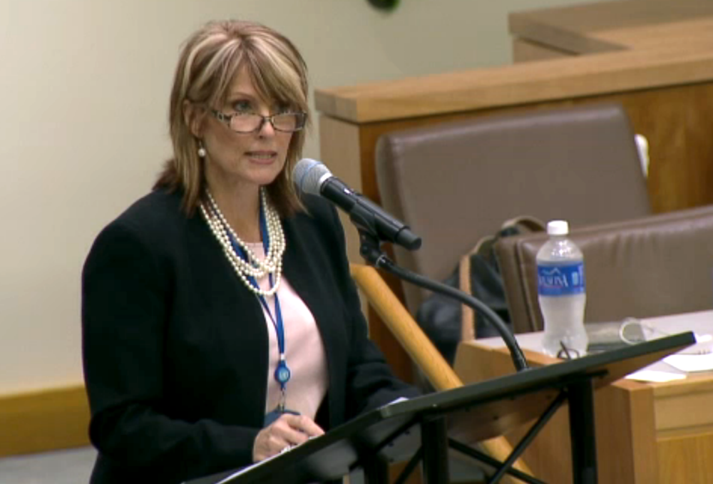Click photo to download. Caption: Laurie Cardoza-Moore, president of the Christian Zionist organization Proclaiming Justice to the Nations (PJTN), addresses the PJTN-organized session about anti-Semitism at the United Nations on Aug. 11. Credit: Courtesy of PJTN.