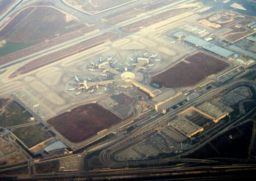 An aerial view of Israel's Ben Gurion Airport. Credit: Wikimedia Commons.
