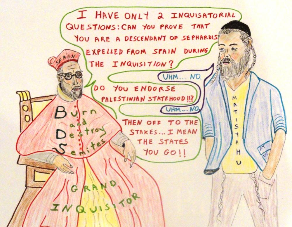 """Broken Record: Old-New Spanish Inquisition."" Credit: FeinTooner."