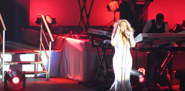 Mariah Carey performs in Israel on Tuesday. Credit: YouTube.