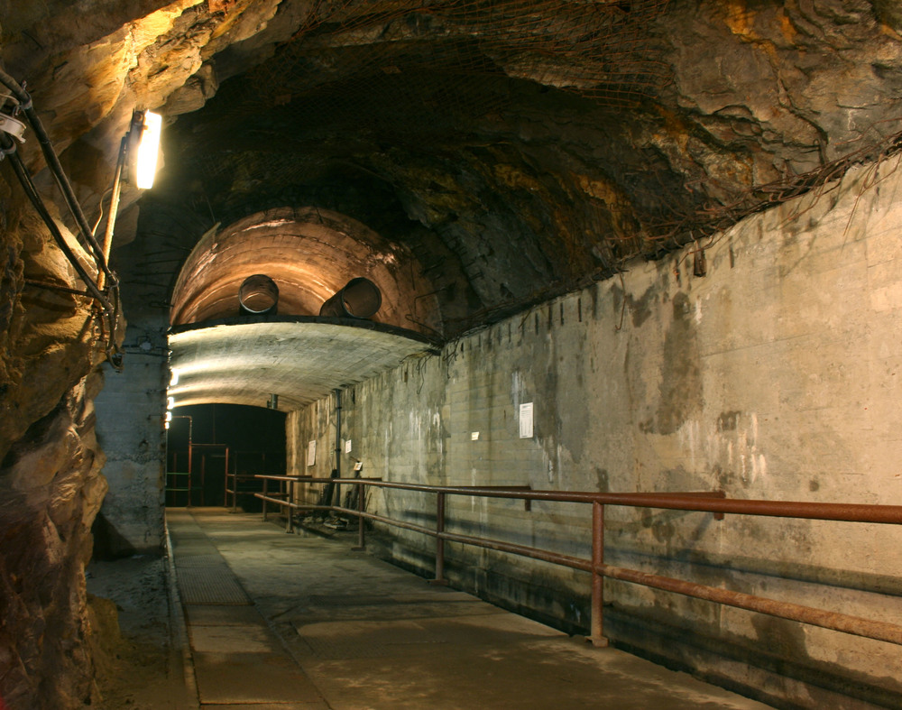 An image depicting a tunnel that is part of Project Riese (Giant), an unfinished Nazi tunnel project in the Sowie (Owl) Mountains in Lower Silesia, which was part of Germany during World War II and now belongs to Poland. The rumored discovered gold train is said to have been hidden in one of these tunnels. Credit: Wikimedia Commons.