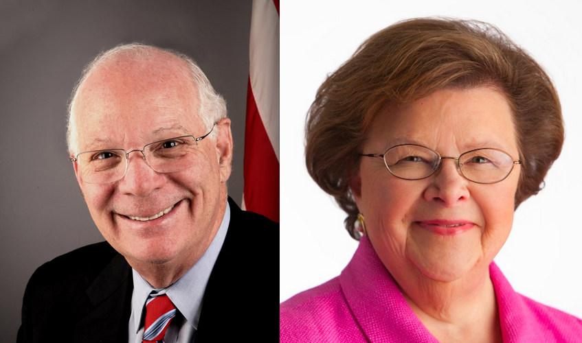 U.S. Sens. Ben Cardin and Barbara Mikulski, both Democrats from Maryland. Credit: U.S. Senate.