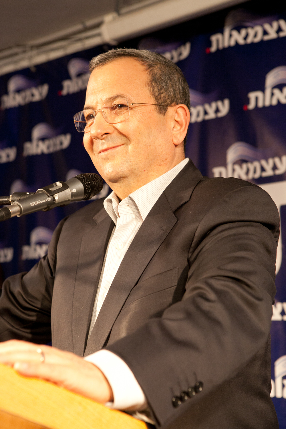Former Israeli defense minister Ehud Barak (pictured) says in recently leaked recordings that Prime Minister Benjamin Netanyahu and former foreign minister Avigdor Lieberman were blocked from taking military action against Iranian nuclear facilities in 2010, 2011, and 2012. Credit: Barak Weizmann.