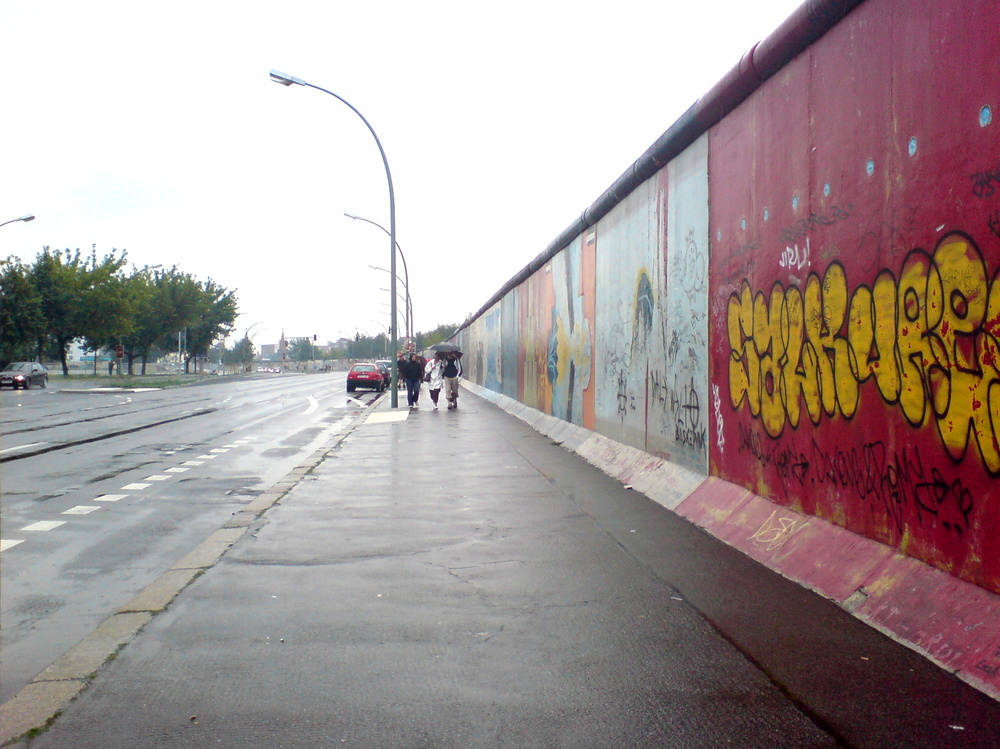 A German MP has compared Israel's security fence to the Berlin Wall (pictured). Credit: Wikimedia Commons.