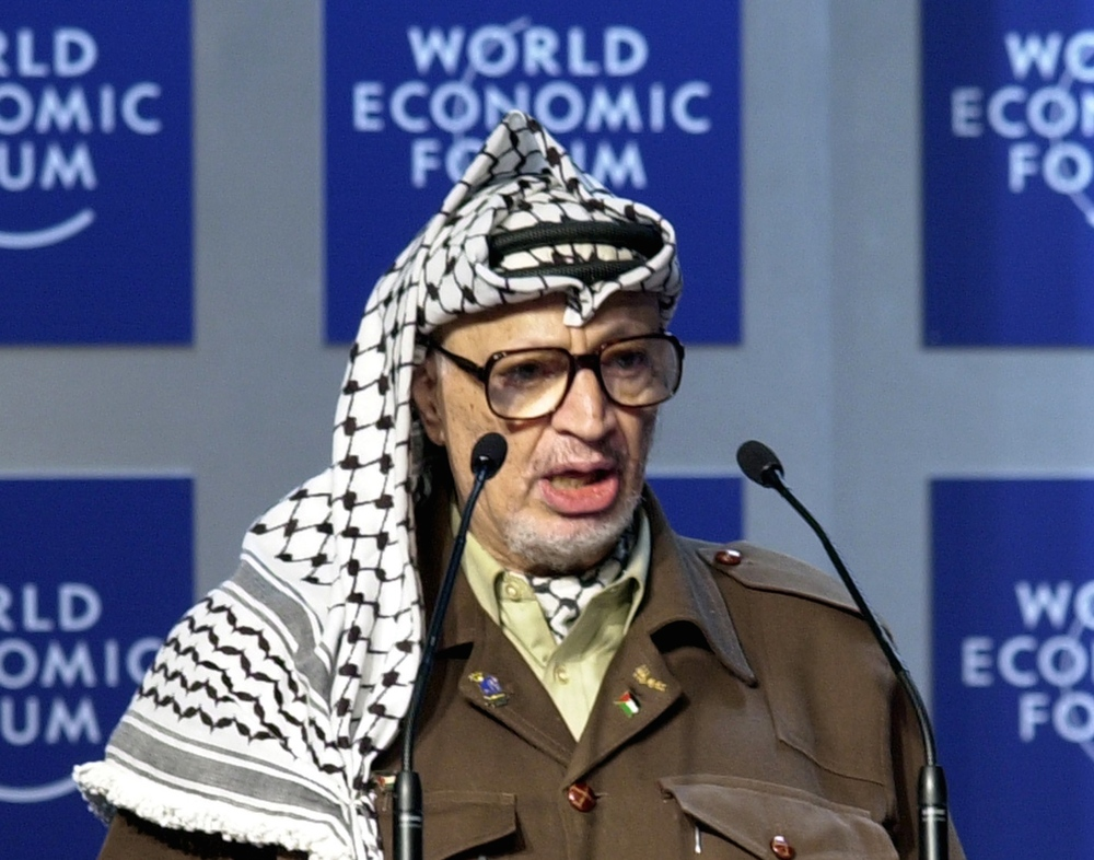 Click photo to download. Caption: Yasser Arafat. Credit: World Economic Forum.