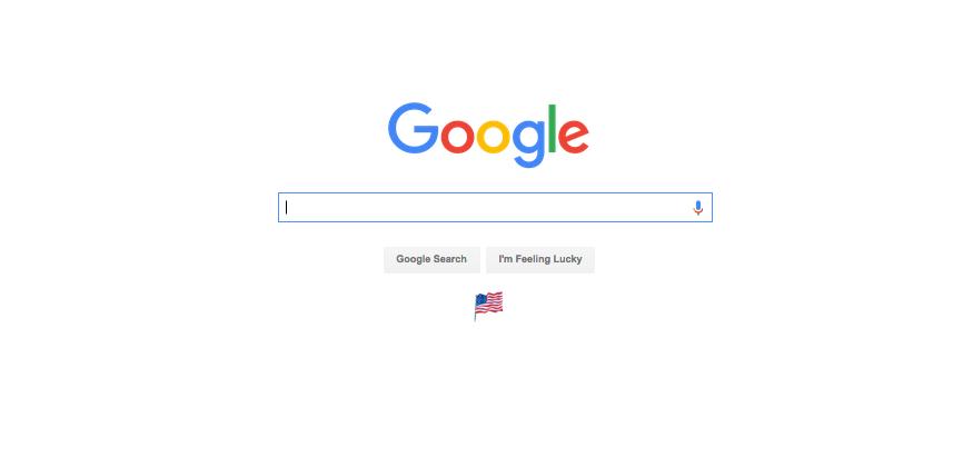 The Google search engine webpage. Credit: Screenshot.