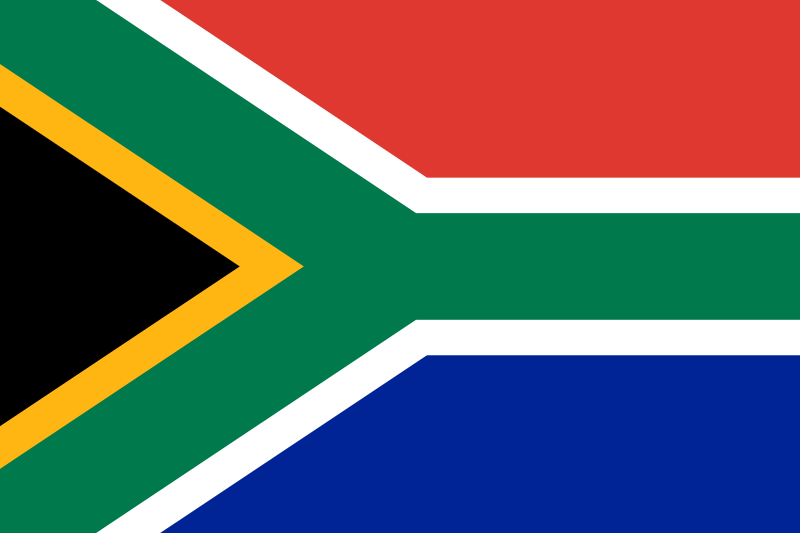 The South African flag. Credit: Wikimedia Commons.