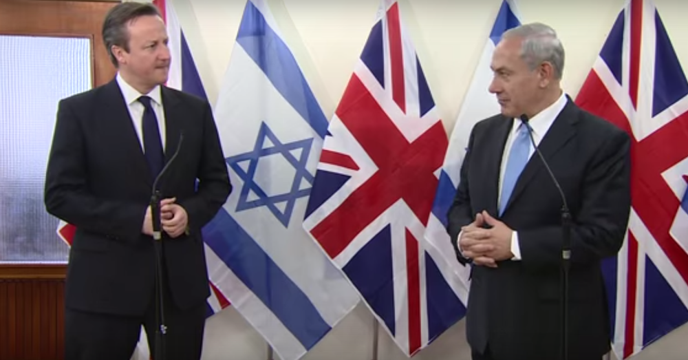 British Prime Minister David Cameron (left) and Israeli Prime Minister Benjamin Netanyahu, pictured meeting in Jerusalem last year, met Thursday in London. Credit: YouTube.