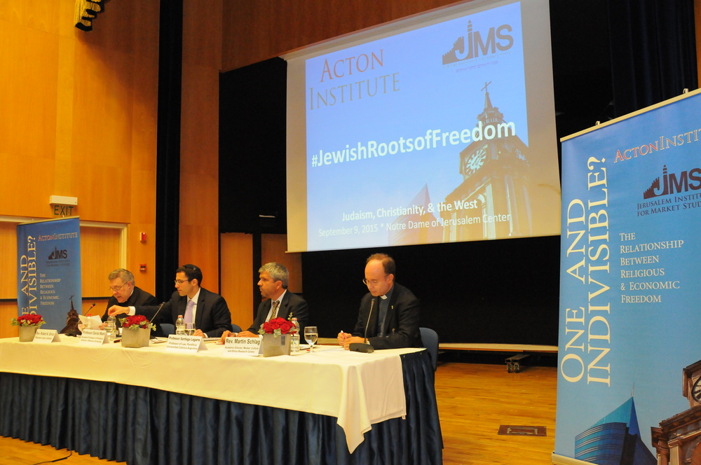 "Click photo to download. Caption: The recent conference in Jerusalem dubbed ""Judaism, Christianity, and the West: Building and Preserving the Institutions of Freedom."" Credit: Acton Institute."
