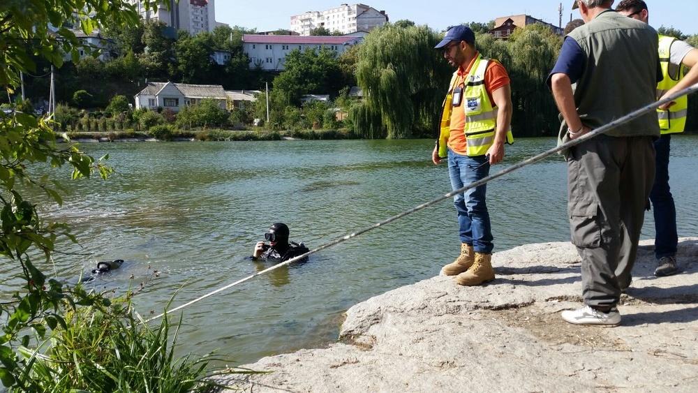 Israeli ZAKA volunteers search for Amir Ohana in Uman, Ukraine. Credit: ZAKA.