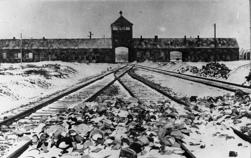 The Auschwitz death camp. Credit: The German National Archives via Wikimedia Commons.