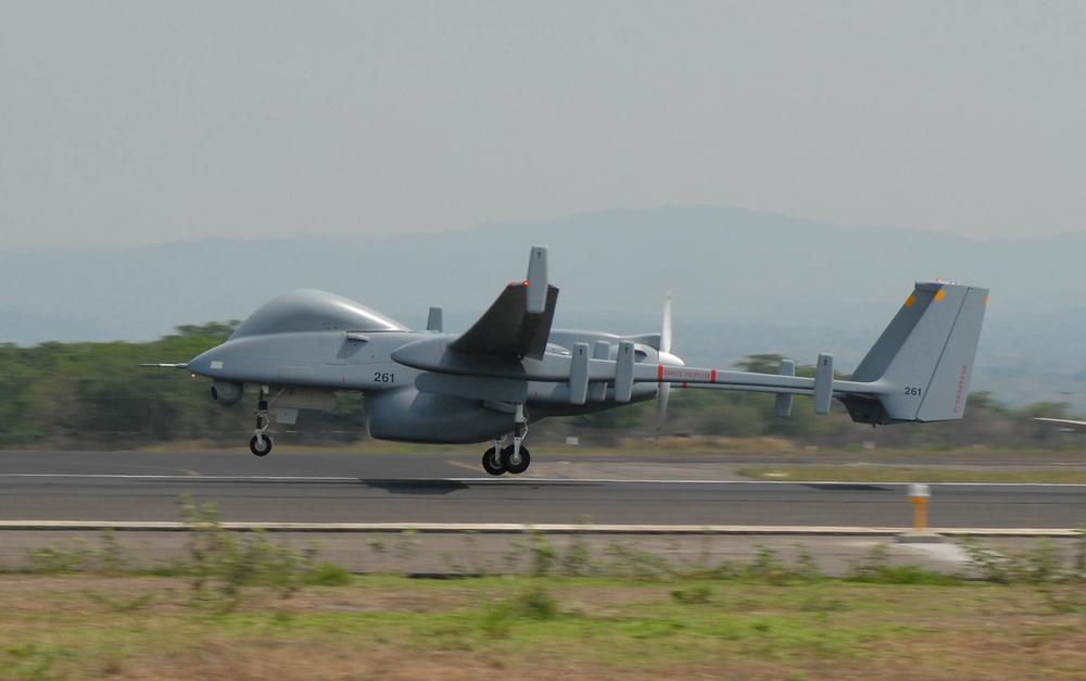 An Israeli Heron drone. Credit:Jose Ruiz, U.S. Southern Command Public Affairs.