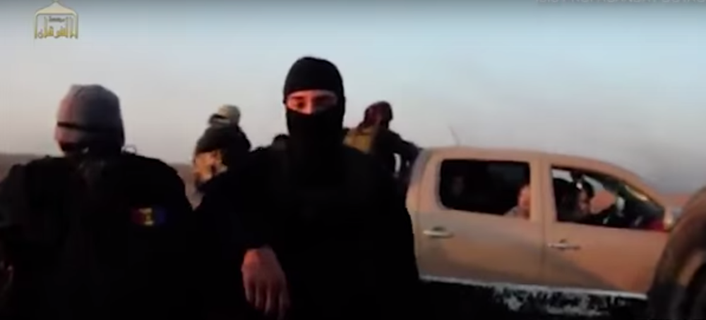 Click photo to download. Caption: Islamic State terrorists in Syria. Credit: YouTube.